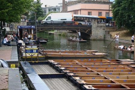 punting: Cambridge (UK). July 8th 2010.- Punting boats 02
