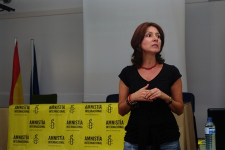 amnistia: Antequera (Malaga) Spagna 25 settembre 2010 - conferenza di Amnesty International Editoriali