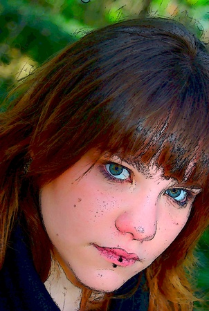 Face with piercing