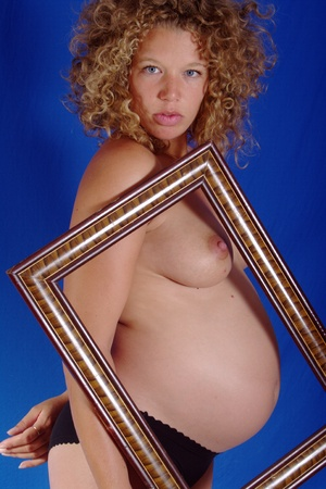 Framed pregnant young lady 10 Stock Photo - 9838177