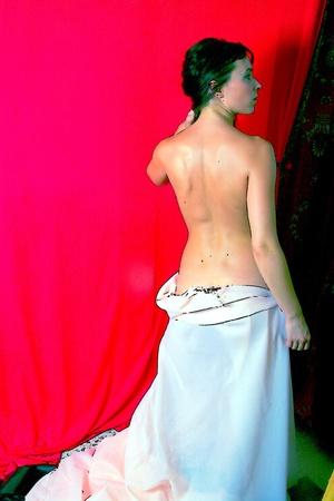 woman back of head: Bare back  Vettoriali
