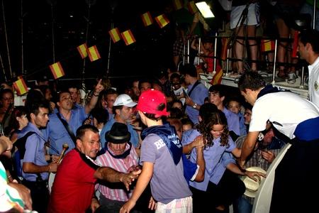 procession: Roquetas de Mar - Almer�a - Espa�a.-25 julio 2011 -. Aterrizaje con la procesi�n de la patrona 01
