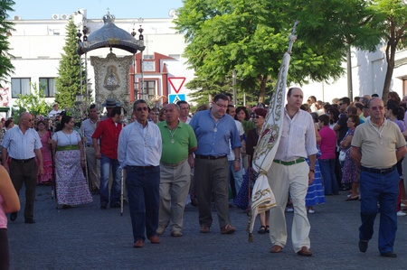 patron: Carmona (Sevilla) Spain.4th September 2011.- Yearly pilgrimage in honor of the patron saint.- 2