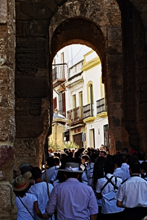 carmona: Carmona (Seville) Spain - 3 September 2012.- People walk in the yearly pilgrimage to a small chapel 16 Editorial