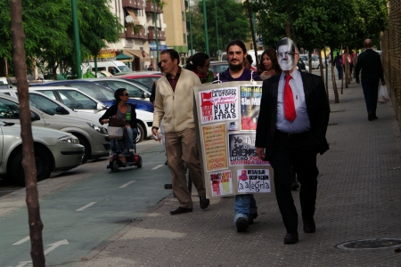 housing problems: Seville, Spain - 18 October 2012.- People prostest about housing problems, 1