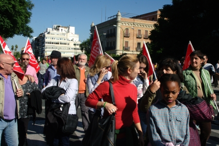 Seville, Spain, 14 November 2012.- Protesters at the demonstration in the General strike 20
