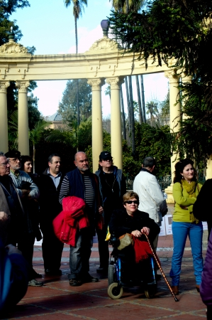 behalf: Seville, Spain - 26th January 2013 - Attenders to concentration in behalf of the Franco Editorial