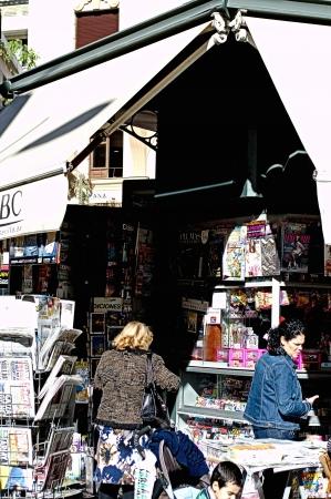 Seville, Spain - 2nd February 2013 - Urban Life. Stationery kiosk Editorial