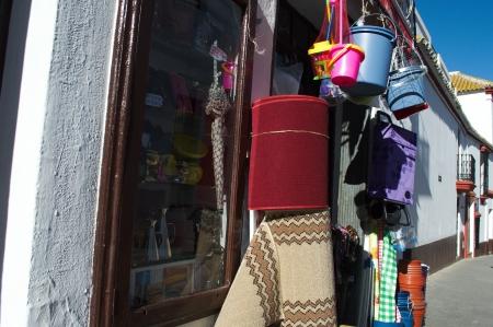 carmona: Carmona, Seville, 6th February 2013: Urban life 12: Street bazar Editorial