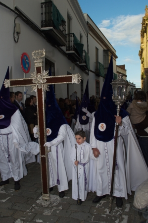 carmona: Carmona, Seville., Spain.- 24th March 2013.- Holy week procession.- Cross and Penitents 10