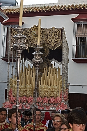 carmona: Carmona, Seville., Spain.- 27th March 2013.- Holy week procession.- Float and penitent 28 Editorial