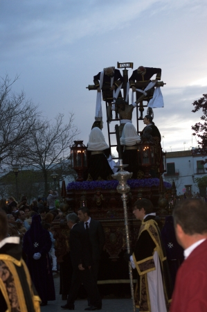 procession: Carmona, Seville , Spain - 27th March 2013 - Holy week procession - Detail of a procession 54 Editorial