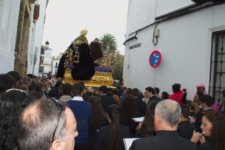 carmona: Carmona, Seville., Spain.- 30th March 2013.- Holy week procession. Editorial