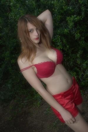 In bra