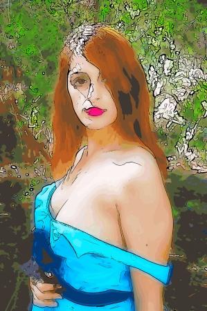 bare shoulders: Bare shoulders   Illustration