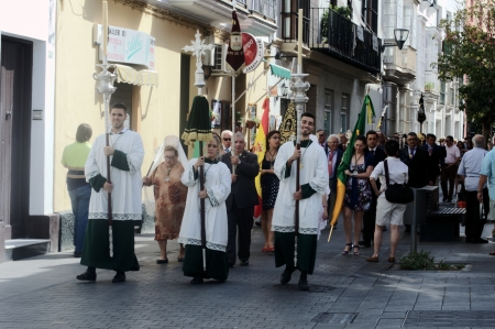 procession: San Fernando (Cadiz) Spain, 30th June 2013: Procession 80