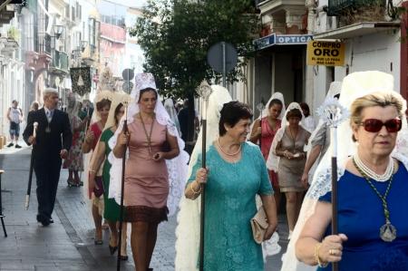 procession: San Fernando (C�diz), Espa�a, 30 de junio 2013: Procesi�n 73 Editorial