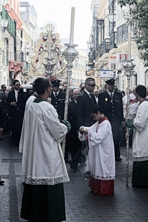 procession: San Fernando (Cadiz) Spain, 30th June 2013: Procession 69