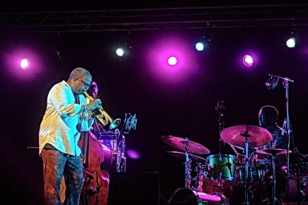 Almu�ecar  Granada  Spain  18th July 2013 - Trence Blanchard jazz band