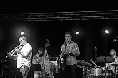 Almu�ecar  Granada  Spain  18th July 2013 - Trence Blanchard jazz band 152 Editorial