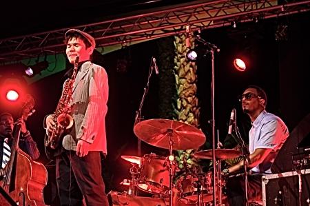 Almu�ecar  Granada  Spain  21st July 2013 - Gregory Porter s band 20