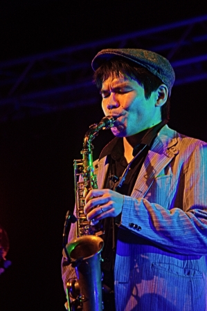 19's: Almu�ecar  Granada  Spain  21st July 2013 - Gregory Porter s band 19