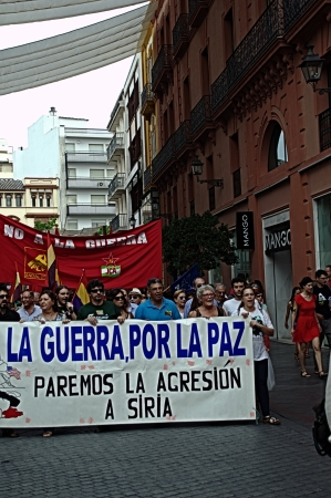 pacifism: Seville 14th September 2013  Demostration against the war in Syria 53