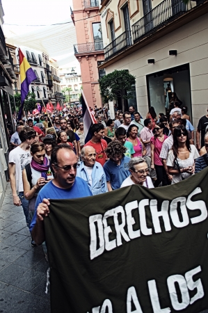 pacifism: Seville 14th September 2013  Demostration against the war in Syria 46 Editorial