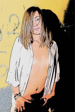 busty: Open shirt 170
