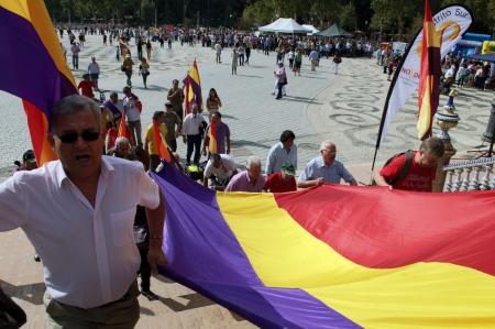 republican: Sevilla  Spain  12th October 2013  Republican concentrtion 29