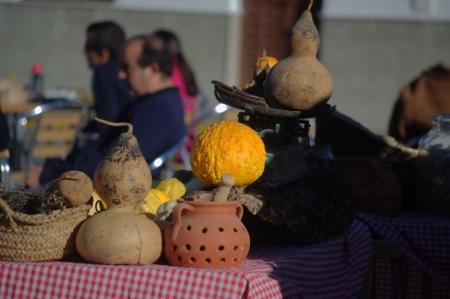 huelva: Fuenteheridos  Huelva  Spain - 30-11-2013 - Open Air market 7