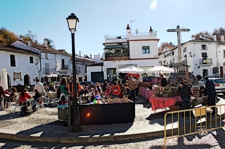huelva: Fuenteheridos  Huelva  Spain - 30-11-2013 Open air market 19 Editorial