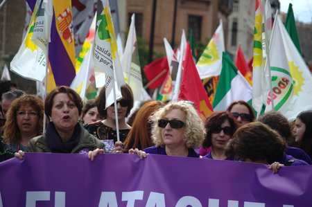 favour: Sevilla 28 2-2014  Andalusia Day  Protest demonstration 34, Women in favour of the abortion