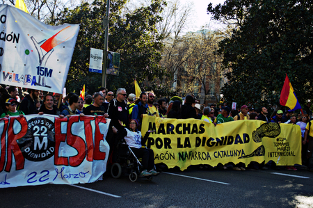 Madrid, 22nd March 2014 - Dignity march 26