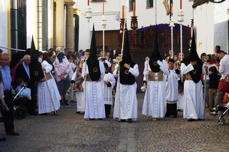 fraternidad: Carmona Sevilla Espa�a 13 de abril 2014 Procesi�n de la Semana Santa 69 San Felipe hermandad Editorial