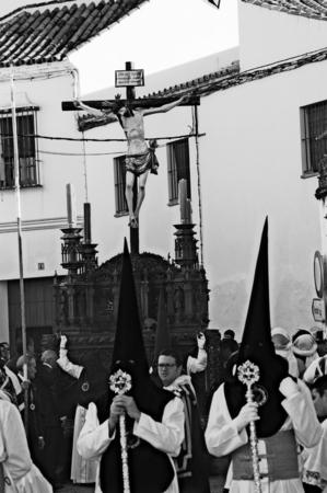 fraternidad: Carmona Sevilla Espa�a 13 de abril 2014 Procesi�n de la Semana Santa 67 San Felipe hermandad
