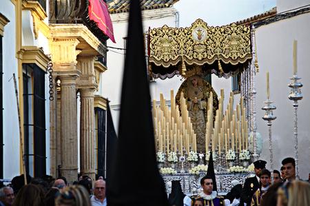 fraternit�: Carmona Sevilla Espagne 13th Avril 2014 Procession de la Semaine Sainte 65 Saint Philip fraternit�