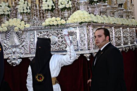 procession: Carmona Sevilla Espa�a 13 de abril 2014 Procesi�n de la Semana Santa 63 San Felipe hermandad Editorial