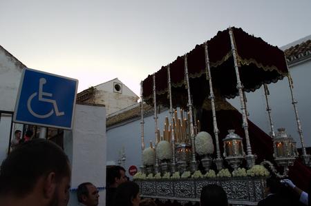 fraternidad: Carmona Sevilla Espa�a 13 de abril 2014 Procesi�n de la Semana Santa 61 San Felipe hermandad