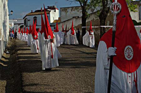 fraternidad: Carmona Sevilla Espa�a 13 de abril 2014 Procesi�n de la Semana Santa 54 San Blas hermandad Editorial