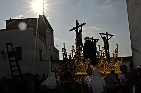 fraternidad: Carmona Sevilla Espa�a 13 de abril 2014 Procesi�n de la Semana Santa 51 San Blas imagen hermandad flotador