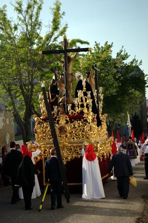 fraternit�: Carmona Sevilla Espagne 13th Avril 2014 Procession de la Semaine Sainte 48 Saint Blas image fraternit� flotteur �ditoriale