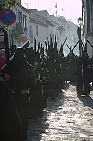 fraternidad: Carmona Sevilla Espa�a, 16 de abril de 2014 las celebraciones de Semana Santa San Francisco hermandad procesi�n 25