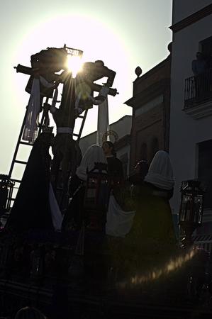 carmona: Carmona  Seville  Spain, 16th April 2014  Holy Week celebrations  Saint Francis brotherhood procession 24 Editorial