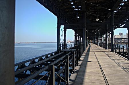 huelva: Pier at Huelva  Spain