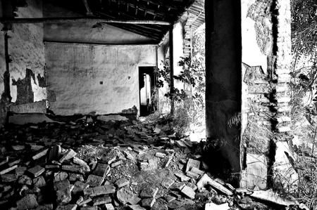 carmona: Carmona  Seville  Spain 24th June 2014 - derelict site in Carmona variation twelve