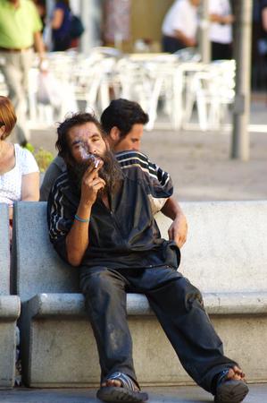 Seville  Spain 26th August 2014 - Urban life - Homeless XVIII