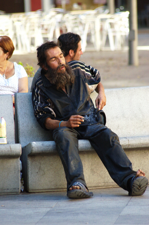 Seville  Spain 26th August 2014 - Urban life - Homeless XVI