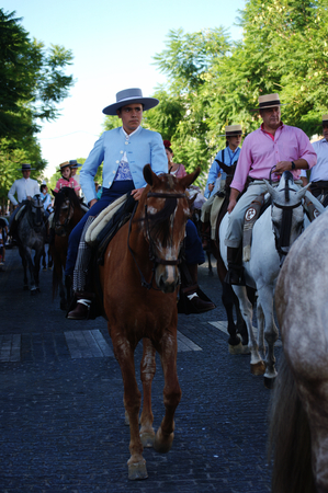 31st August 2014 - Carmona - Sevilla - Spain - Yearly pilgrimage in honour of the patron saint - The parade in motion - XL31st August 2014 - Carmona - Sevilla - Spain - Yearly pilgrimage in honour of the patron saint - The parade in motion - LIV