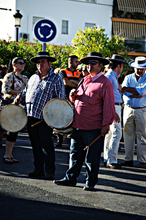 31st August 2014 - Carmona - Sevilla - Spain - Yearly pilgrimage in honour of the patron saint - the drummer - XL Editorial